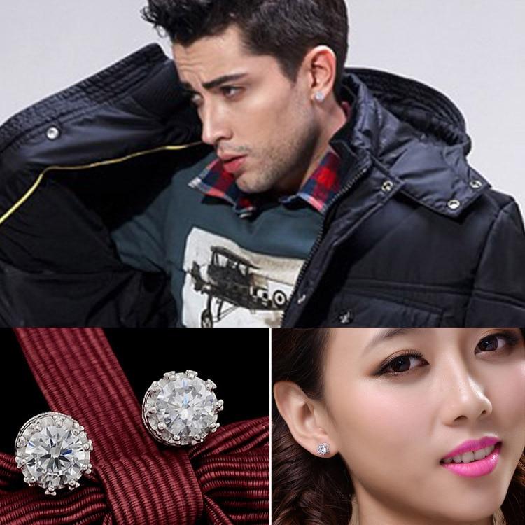 Fashion Crystal Korea Style Classic Crown Earings For Men/women Girls Friends Gifts Rhinestone Stud Earings