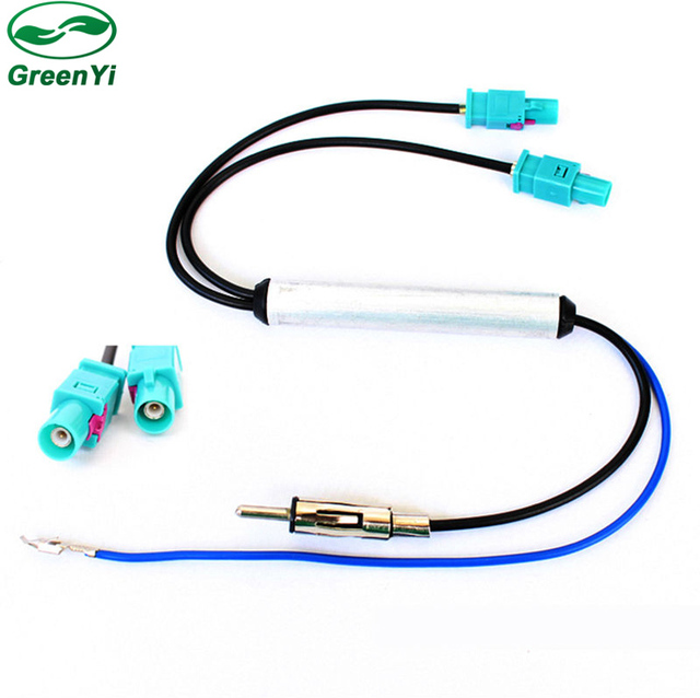 Aliexpress Com Buy Greenyi Two Way Oem Car Radio Antenna Adapter Diversity System Fakra For