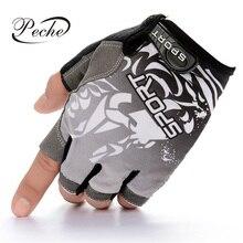be9c672d5bdafa Peche 1 para Angeln Handschuh Anti-Slip Halbe Finger Durable Reiten Sport  Outdoor Fitness Dünne