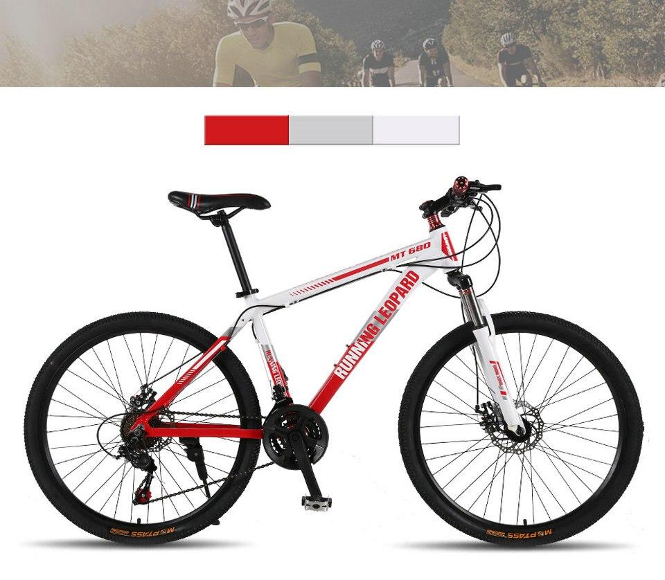 HTB1mJdrbpzqK1RjSZSgq6ApAVXaq Running Leopard mountain bike 26 inch 21/24 speed bikes aluminum alloy frame mountain bike Mechanical double disc brake bicycle
