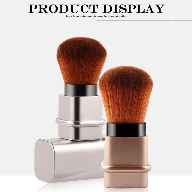 Brocha de maquillaje retráctil individual de alta calidad, brocha de maquillaje de lujo, herramientas de maquillaje, brocha de colorete de polvo suelto Kabuki