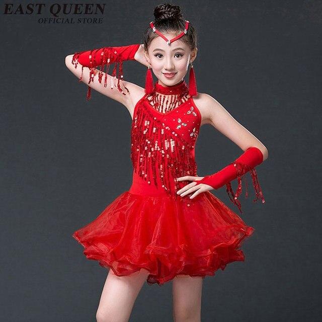 Latino Dance dress para niños trajes de baile para niños Latino Dance trajes  para mujeres vestido bec8649878c