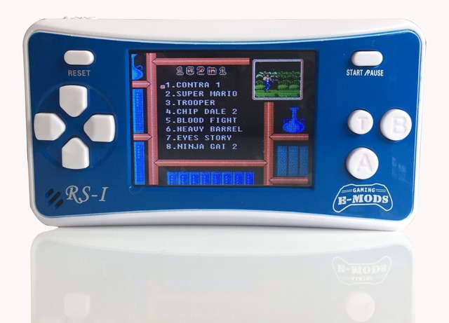"Free Shipping!8-Bit Retro 2.5"" LCD 162x Video Games Portable Handheld Console (BLUE) - NEW!"