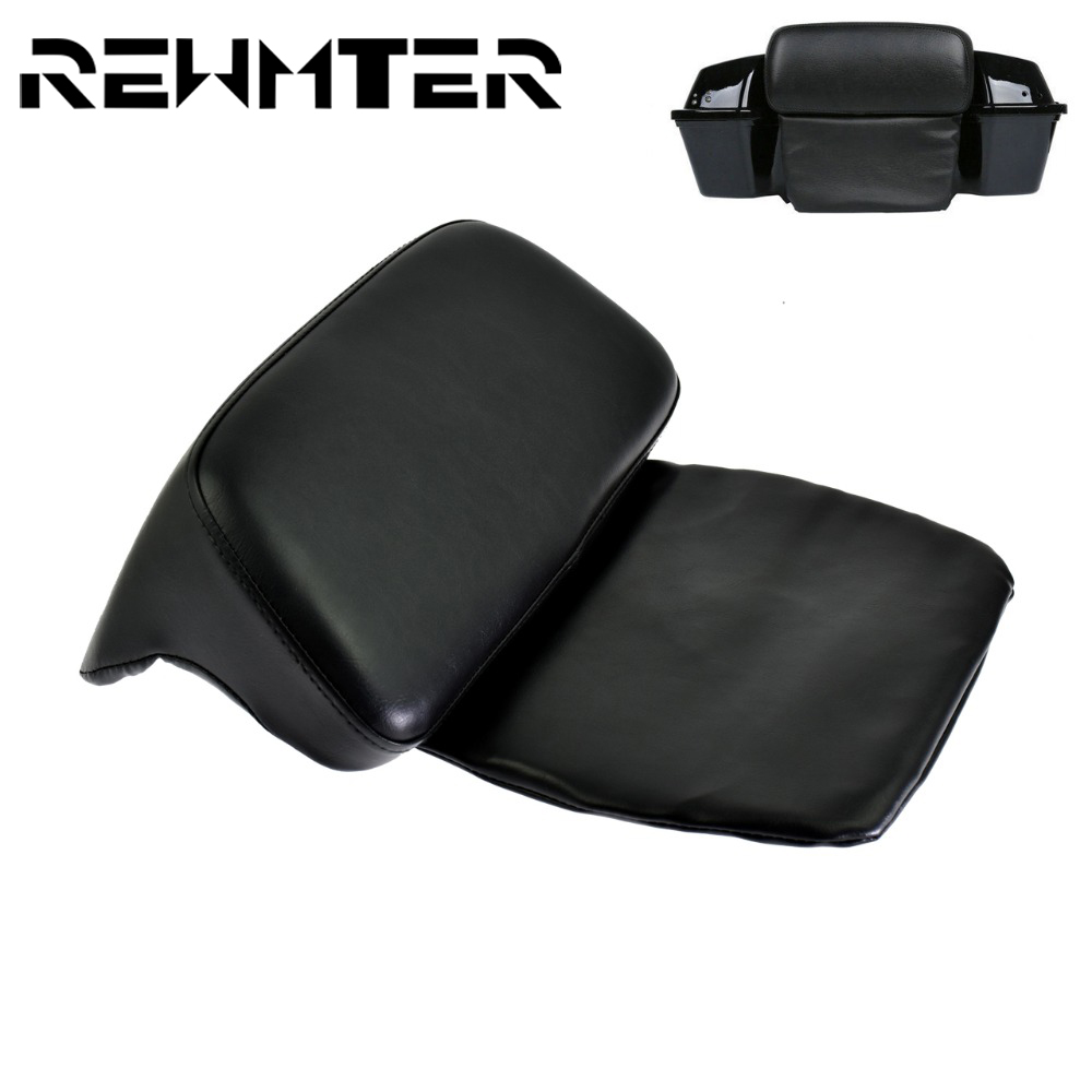 Motorcycle High Quality Parts Tour Pak Backrest Pillow Pad Leather For Harley Touring Road Glide King FLHR FLT 2014-18