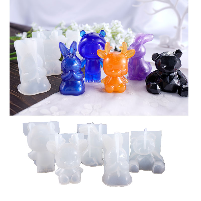 3D Cute Animals DIY Silicone Jewelry Tools For Making Pendant Resin Casting Mould Handcraft Tool