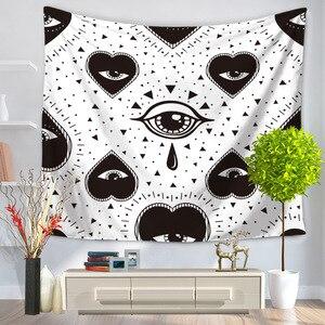Image 3 - CAMMITEVER geometría calavera ojos gran oferta tapiz indio Mandala tapiz Hippie tapices para colgar en la pared Boho colcha nuevo en
