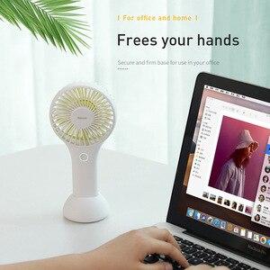 Image 4 - Ventilateur portatif portatif de refroidissement par Air de la batterie 1800mAH intégrée Rechargeable de ventilateurs portatifs de Mini ventilateur dusb de Baseus pour la maison extérieure