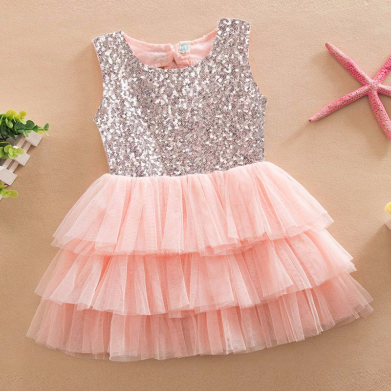 17 Infant Baby Girls Sequined Bow Dress Kids Wedding Party Dresses Children Clothing vestido de festa infantil menina 9