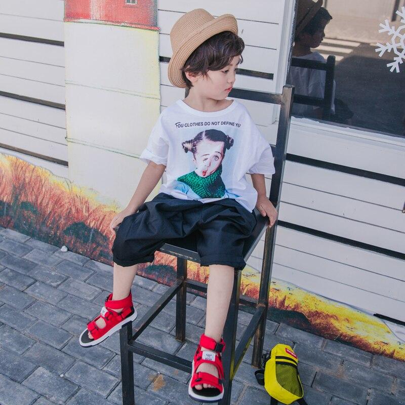 2018 nowy letni chłopak pięć spodnie na co dzień cienkie spodnie - Ubrania dziecięce - Zdjęcie 4