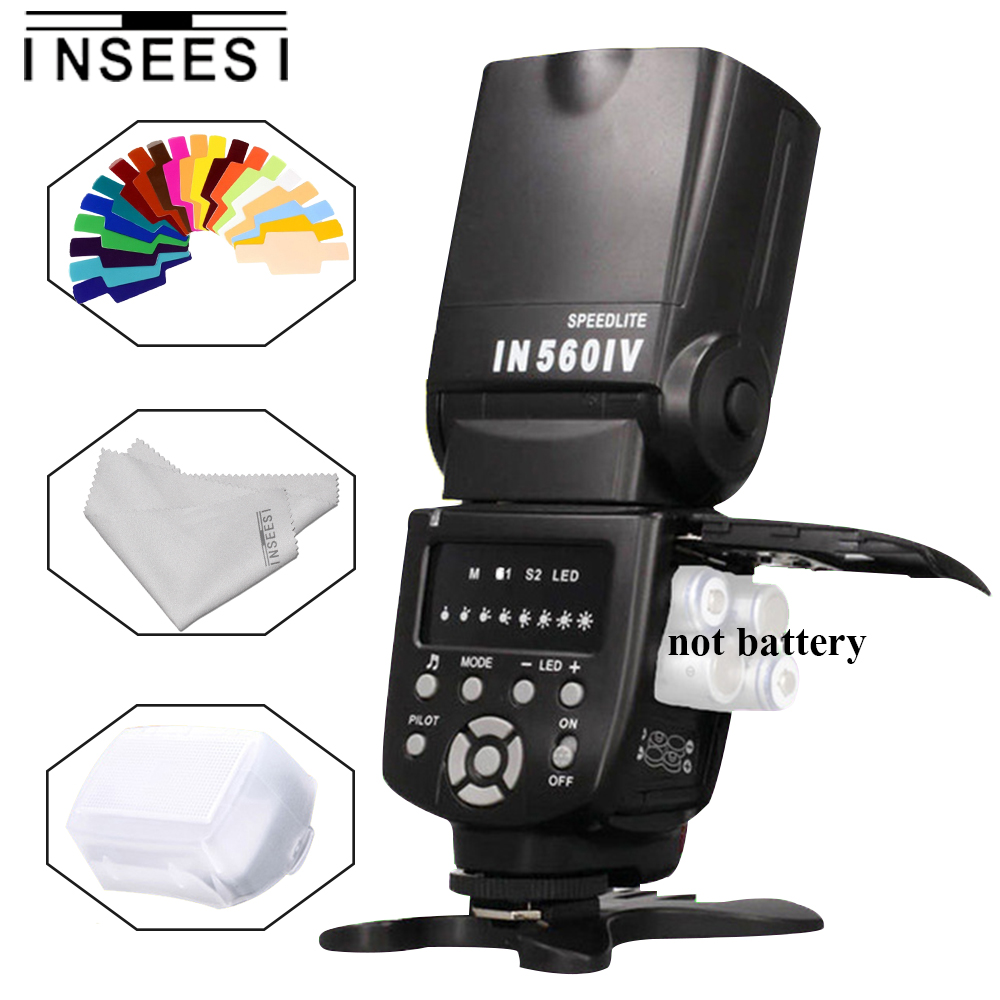 INSEESI IN560IV IN-560IV Light Wireless Flash Speedlite For Nikon DSLR Cameras VS Viltrox JY-680A YN560 III YN560 IV TR-950 universal camera inseesi in 560 iv plus wireless flash or viltrox jy 680a flash speedlite with lcd screen for canon nikon pentax