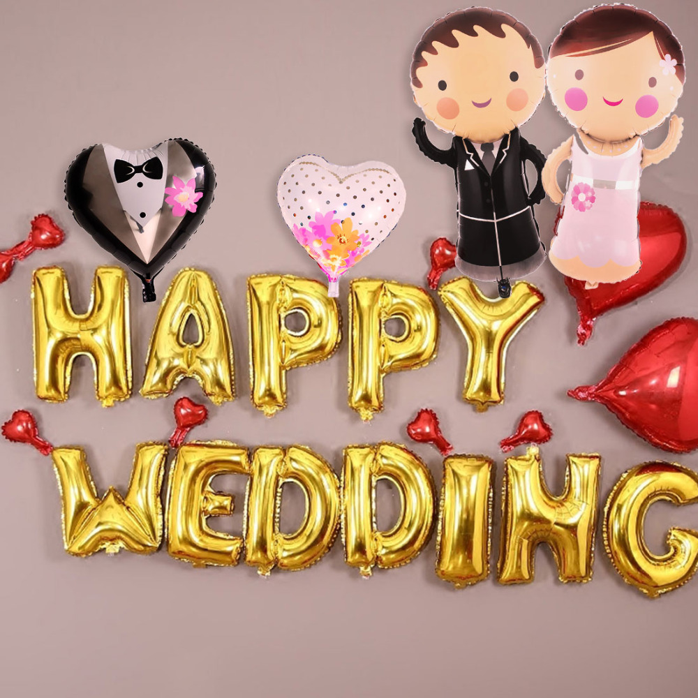 Cute Outdoor Wedding Ideas: Cute 18 Inches Wedding Decorations Heart Bride Groom