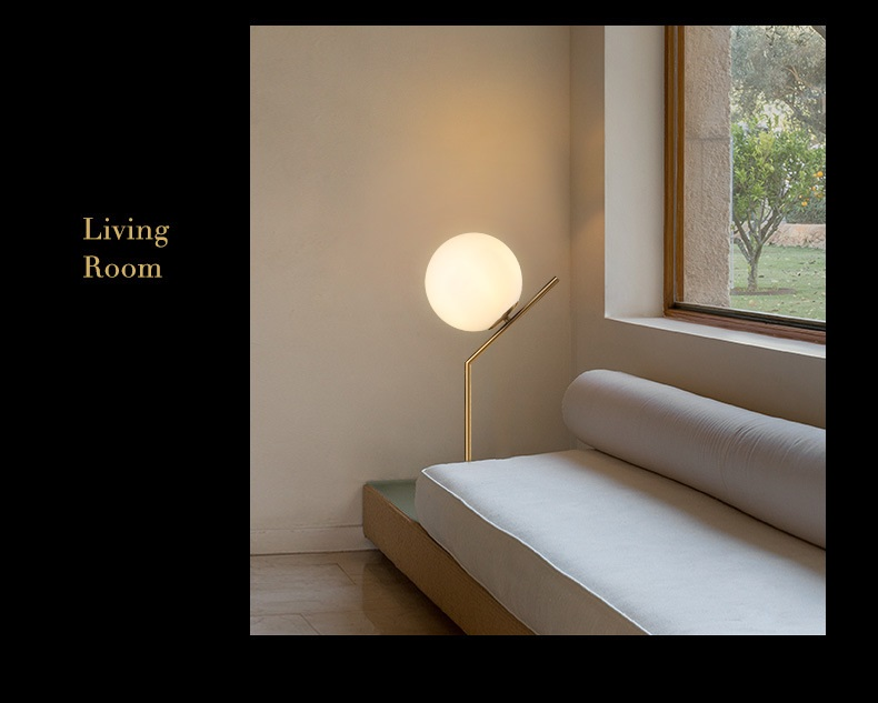 Modern LED Table Lamp Desk Lamp Light Shade Glass Ball Table Lamp Desk Light for Bedroom Living Room Floor Conner Gold Designs (11)