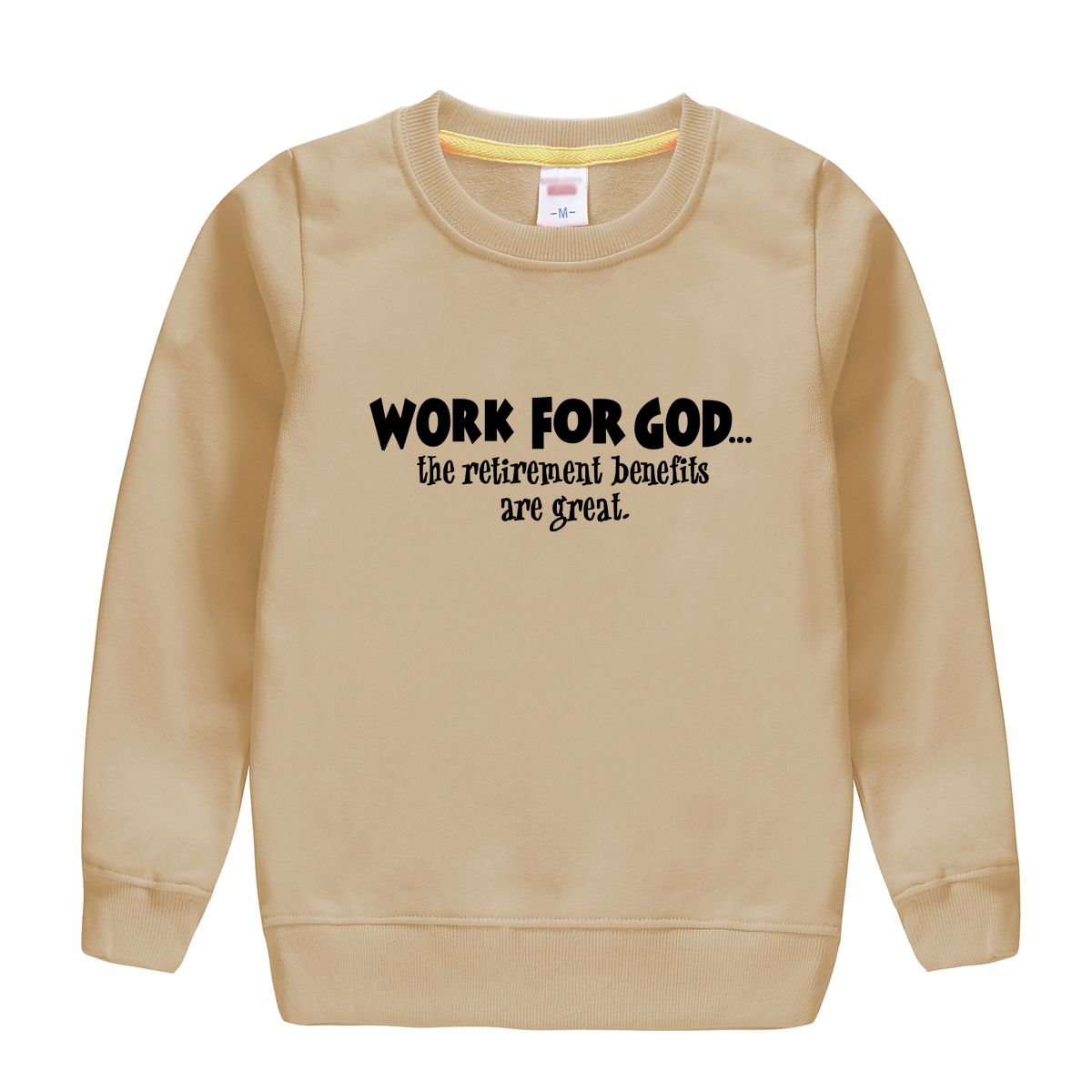 WORK FOR GOD pattern printed 2018 new fashion cotton beautiful sweatshirt baby boy hoodie clothing warm soft pullover for kids
