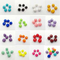 (Choose Size/Color First ) 12mm/20mm Solid Color Big Faceted Acrylic Beads For Necklace Making