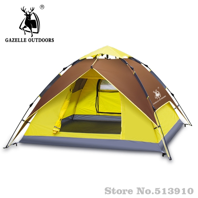 Gazelle outdoors 3-4 persons Tents Hydraulic Automatic Windproof Waterproof Double Layer Tent Outdoor Hiking  sc 1 st  AliExpress.com & Gazelle outdoors 3 4 persons Tents Hydraulic Automatic Windproof ...