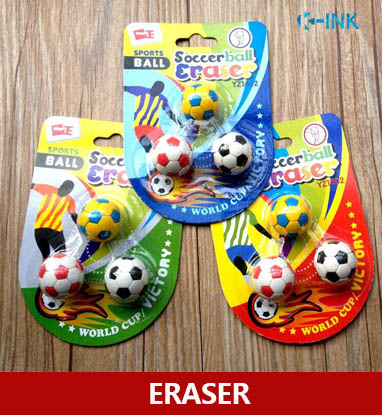 10-Pack Novelty Soccerball Pencil Eraser , Football Shaped Eraser For School Kids As Prizes