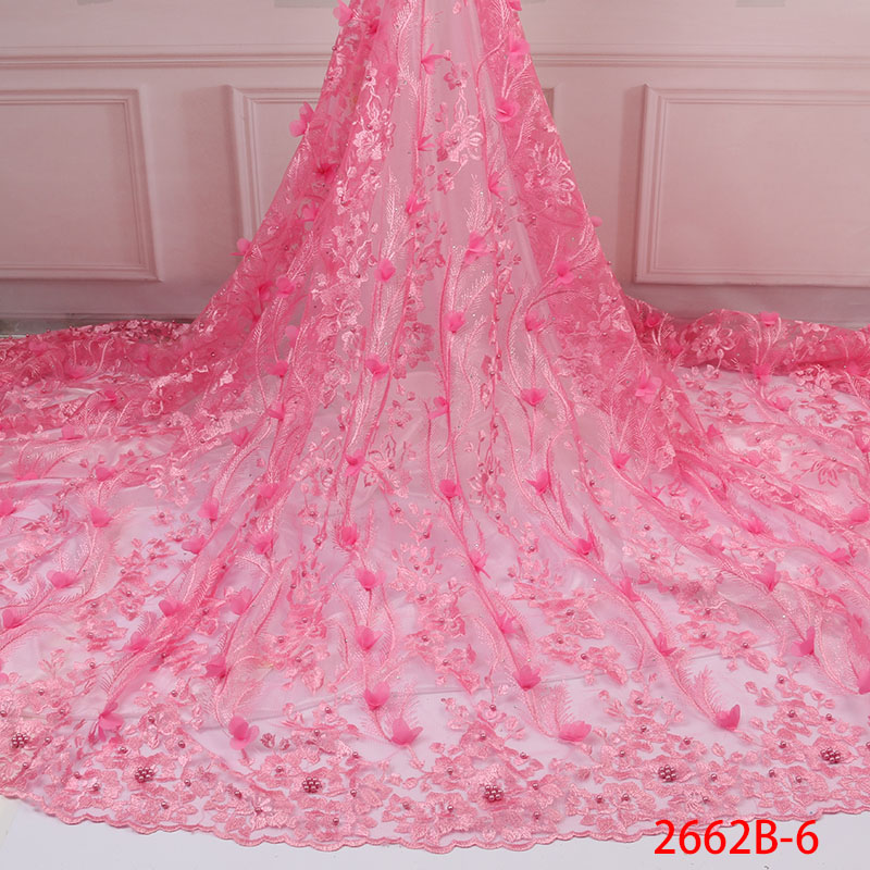 African Floral Embroidered Tulle Fabric Cheap Price Elegant African French Tulle Lace 2019 Bridal Lace Fabric QF2662B 6