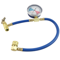 1pc Mayitr Metal R134a Recharge Measuring Hose Pressure Gauge Adapter Car Air Conditioning Refrigerant Charging Pipe