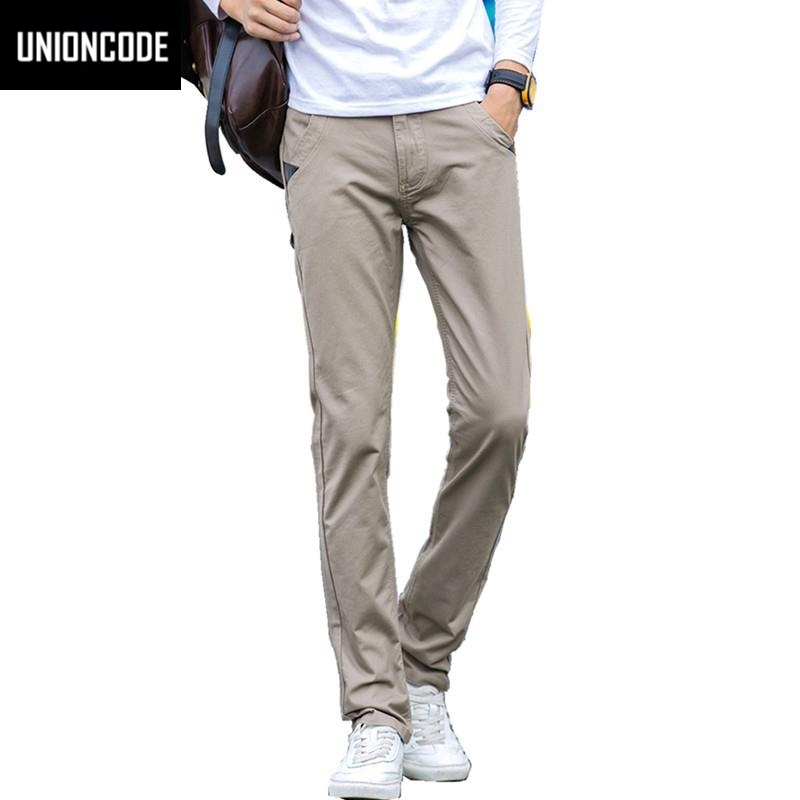 Mens Basic Style Twill Pants Casual Classic 100 Cotton No Stretch Regular Slim Fit Chinos Trousers