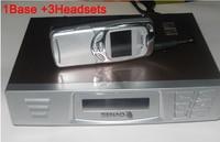 DHL FREE SENAO SN 629 15KM cordless telephone SN629 1 base support 9 extra handset Duplex Intercom A set of 1Base+3Headsets