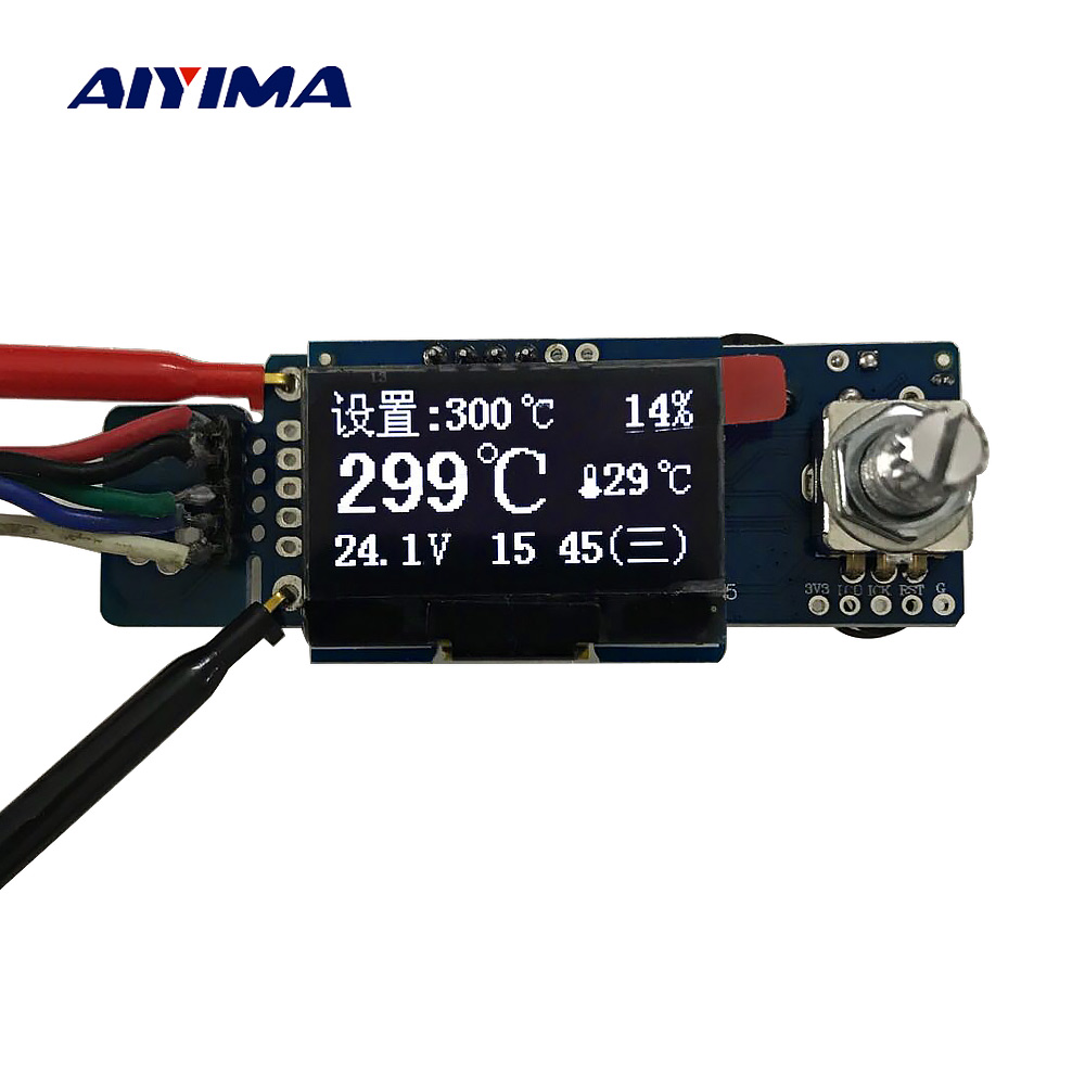 New T12 OLED Digital Soldering Iron Station Temperature Controller STC English Display Board Without Acrylic Board
