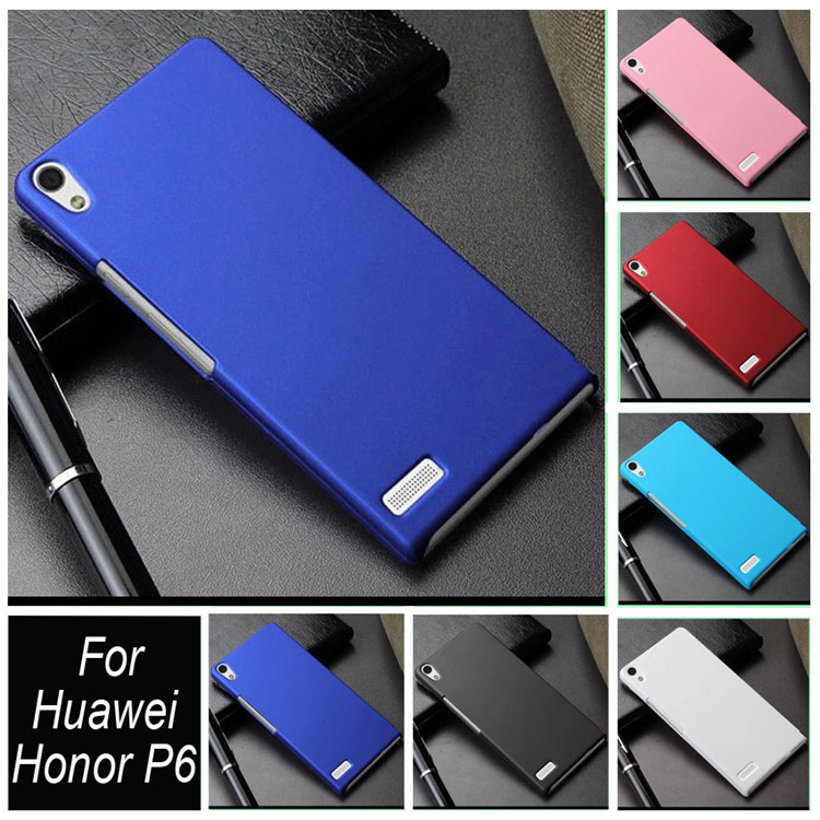 Colorful Hybrid Hard Plastic Hood Capa Case Cover For Huawei Honor 6 Honor6 Oil-coated Frosted Rubber Matte Phone Case Shell