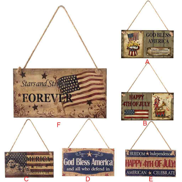 American Styled Wooden Plaque Sign