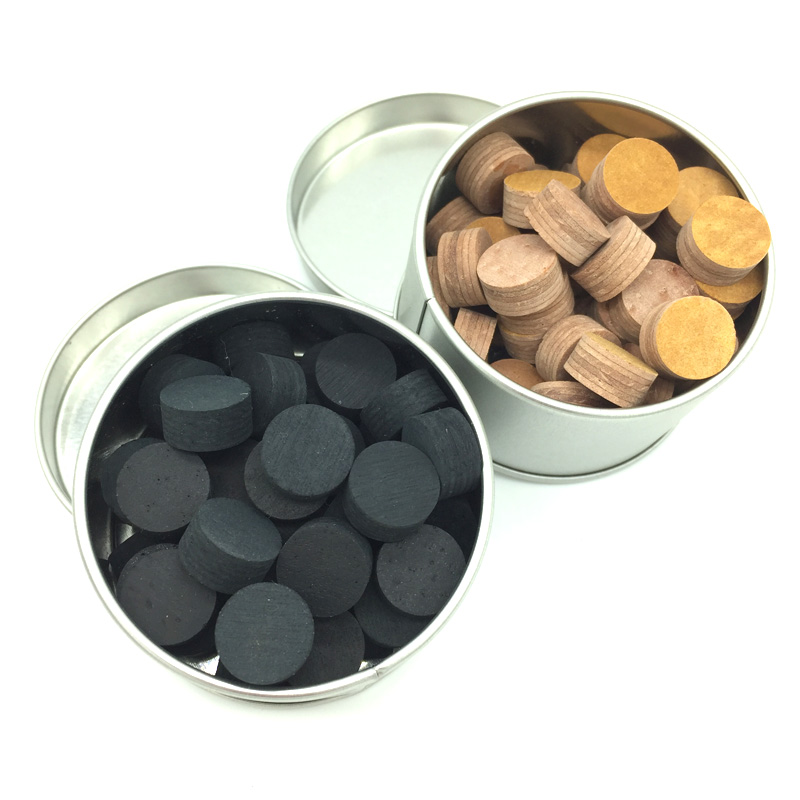 50pcs Billiard Pool cue tips 6layers 13mm 14mm Carom cue tips Black Brown Billiard accessories wholesale