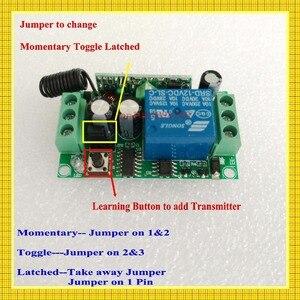 Image 2 - Беспроводной пульт дистанционного управления, 3000 м, 12 в пост. Тока, 1 канал, 10 А, передатчик, светильник для обучения, 315433 МГц