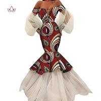 summer african dresses for women Fashion Design dashiki women bazin riche long lace dress traditional plus size natural WY4616