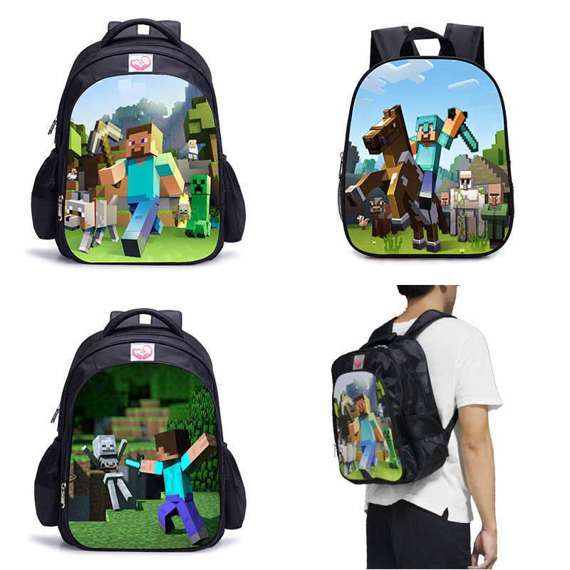 Minecraft школьный ранец с изображением мультяшных геров дети рюкзак милый основной студент школьные ранцы для мальчиков обувь для девочек детский сад Сумки Лидер продаж