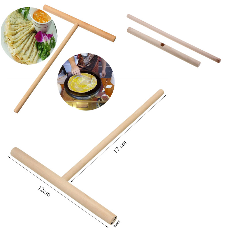 Kitchen-Tool-Stick Crepe-Maker Rack-Spreader Bar-Supplies Batter Wooden Conveniet Pancake title=