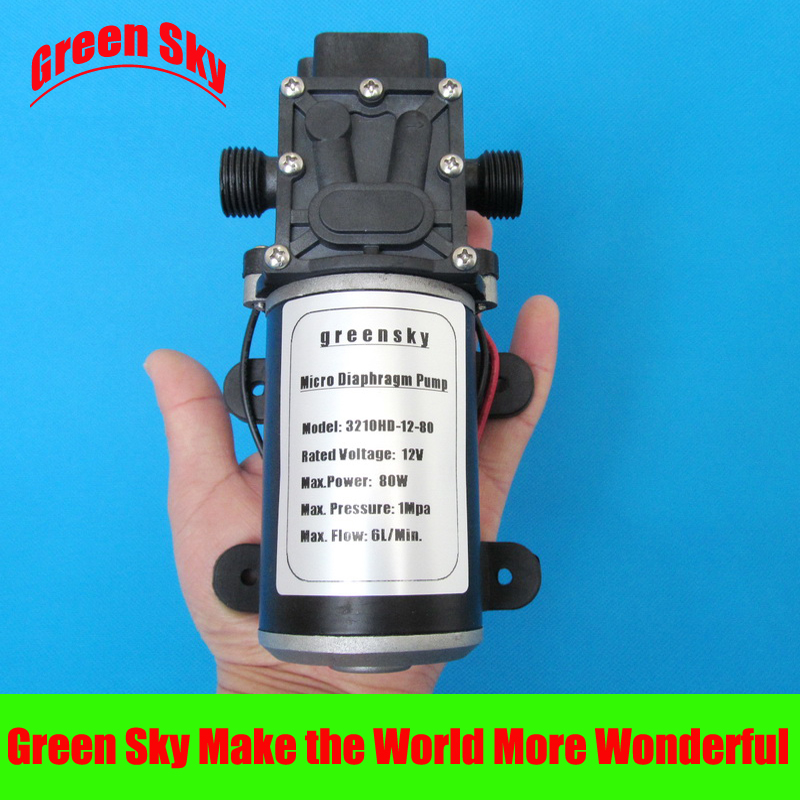 145PSI 6L Min 12V DC 80W return valve type high pressure diaphragm water pump