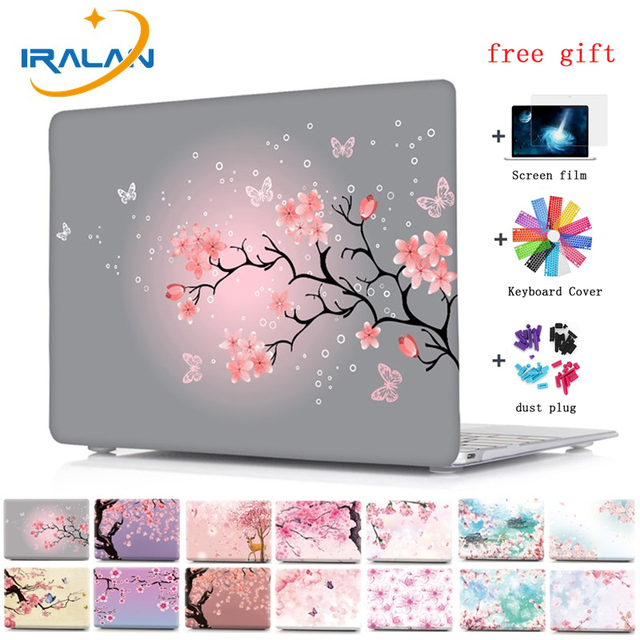 Print Cherry Blossoms Laptop Case For MacBook Air Pro Retina 11 11.6 12 New 13.3 A1932 Pro 13 15 Touch Bar A1706 A1707 Cover