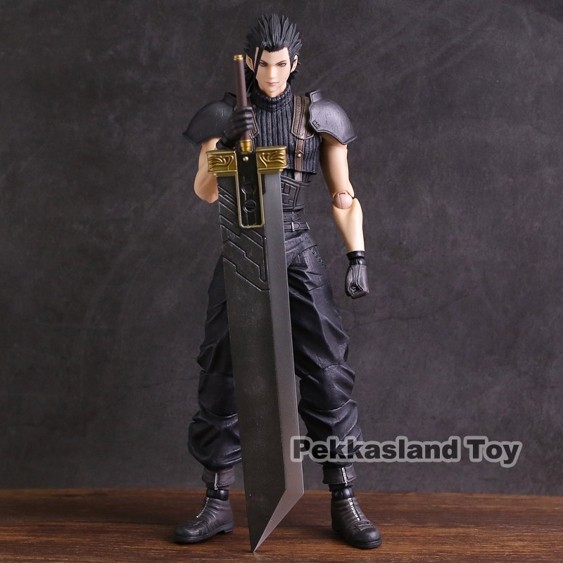 Genuine Play Arts KAI Final Fantasy VII Crisis Core Zack Fair PVC Action Figure Collectible Model Toy play arts kai street fighter iv 4 gouki akuma pvc action figure collectible model toy 24 cm kt3503
