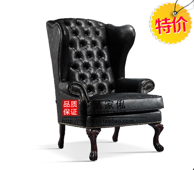 American Leather Armchair Chair / High Back Sofa / Office Study Furniture  Sofa Specials Club Image