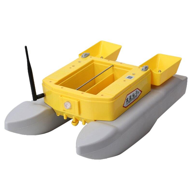 Nuevo barco de pesca T1688 monitor buscador de peces 4 kg carga 500 m pesca rc barco señuelo para pesca remoto inalámbrico control de barco de cebo