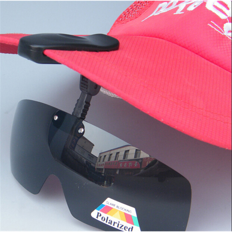 New Arrival Polarized Hat Visors Sport Clips Cap Clip-on Sunglasses For Fishing/Biking/Hiking/Golf/Ski Black/Brown Free Shipping белая рубашка с объемными рукавами и вырезом