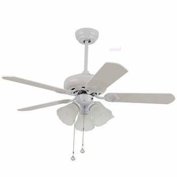 42 Inch Ceiling Fan With Light | LED Ceiling Fans Lamp 3 Light  Number Of Blades 5 Pcs 110-220V Fan 42 Inch/108cm The Wall Switch Free Shooping