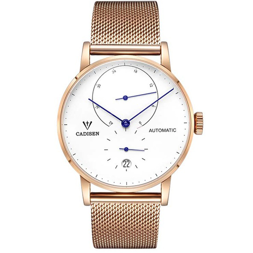 CADISEN Top Brand New Mens Watches Luxury Automatic Mechanical Watch Men Full Steel Business Waterproof Fashion Sport Watches mens branded luxury fashion watch men automatic ultra thin gold full steel mesh watches men dress mechanical watch orologio uomo
