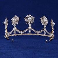 2017 neue Hochzeit Krone Schmuck Cystal Perle Crown Tiaras für Frauen Geschenke Brautkleid Schmuck Haar Krönen die Beste Geschenk
