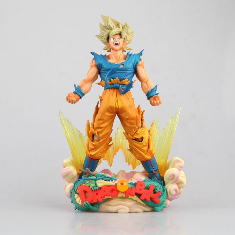 Anime Dragon Ball Z Son Goku Figurine MSP Super Saiyan The Brush Figure PVC Action Figure Collectible Model Kids Toys 24cm 26 5cm new hot pvc action figure zerodragon ball super saiyan 4 son goku model doll decoration collection figurine toys for gift
