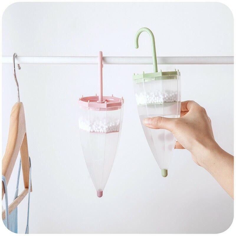 Umbrella Shape Hanging Moisture Absorber Reusable Space Interior Dehumidifier Bags   Moisture Box For Wardrobe