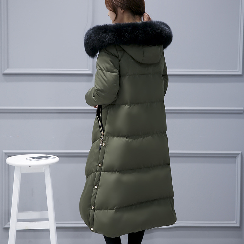 2017 New Winter Natural fox Fur Thicken Down Coats Fashion Long Parkas Women Down Jackets Snow Outerwears Female Overcoats