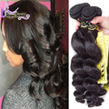 Ms Lula Hair Company Unprocessed Virgin Malaysian 7A Unprocessed Virgin Hair Malaysian Loose Wave 4 Bundles 100 Human Hair Weave