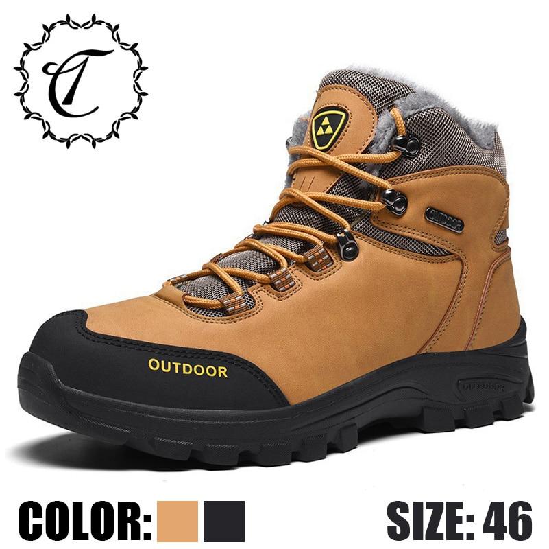 Pelúcia 6028 Botas brown Alta Inverno À Laranja Neve Sapatos Qualidade Moda Black Desenhador Couro Grande Segurança D' Do Catrica 2019 Tamanho Trabalho De Prova Água PBwSHt