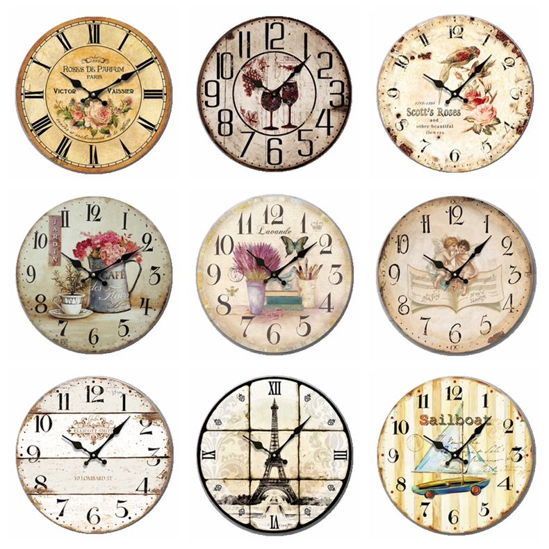 European Garden Wall Clock Wall Decoration Simple Bedroom Fashion Creative  Art Room Silent Discount Promotion Clock In Wall Clocks From Home U0026 Garden  On ...