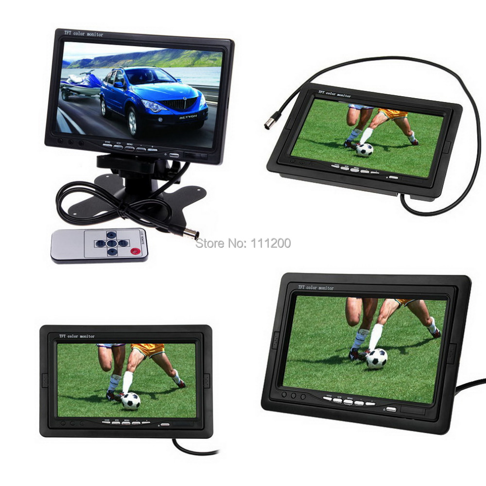 7 inch LCD TFT FPV 480 x 234 HD TFT Screen Monitor Photography For Ground Station 1pcs fpv 7 inch tft led monitor hd 800x480 screen for rc model camera wholesale free shipping