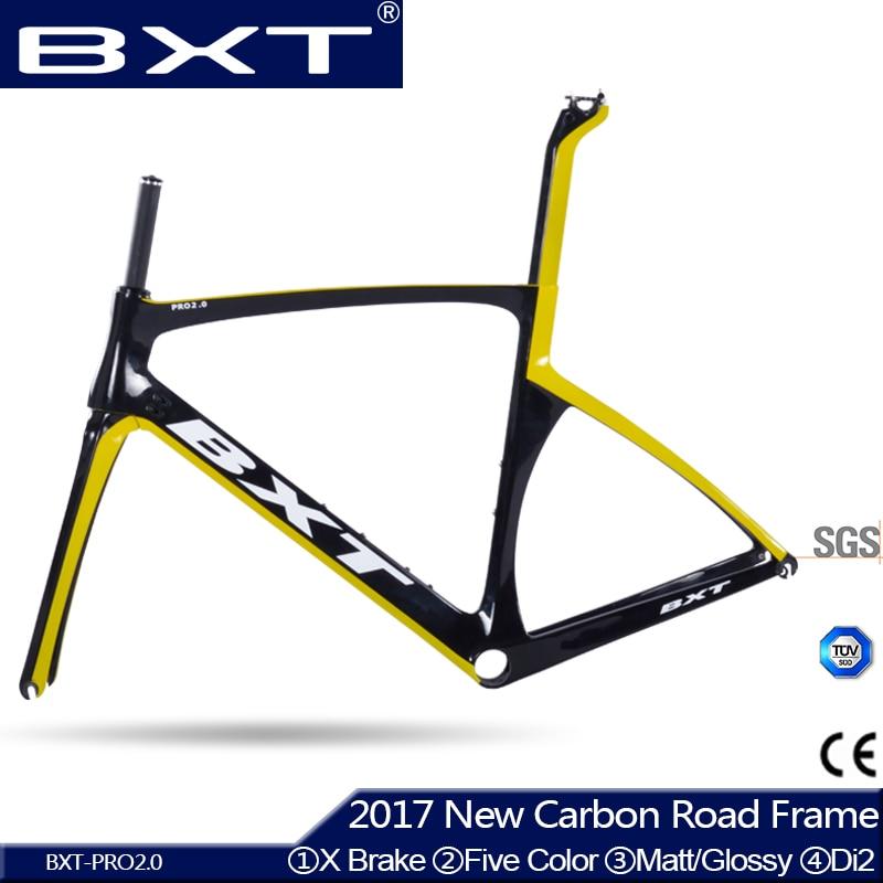 BXT 2017 brand Chinese carbon frames super light Aero Design carbon road frame BSA/PF30 racing bike bicycle frame 25c wheel Free
