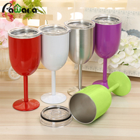 Stainless Steel Wine Glasses Double Wall Vacuum Sealed Drinking Cup Goblet Mug Cocktail Glass Wine Glass